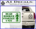 Dead Hooker Storage Unit Decal Sticker Green Vinyl Logo 120x97