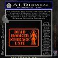 Dead Hooker Storage Unit Decal Sticker Orange Emblem 120x120