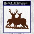 Deer Hunting Decal Sticker D1 BROWN Vinyl 120x120