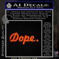 Dope JDM Slick D1 Decal Sticker Orange Emblem 120x120