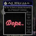 Dope JDM Slick D1 Decal Sticker Pink Emblem 120x120