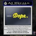 Dope JDM Slick D1 Decal Sticker Yellow Laptop 120x120