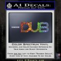 Dub Decal Sticker Logo Glitter Sparkle 120x120