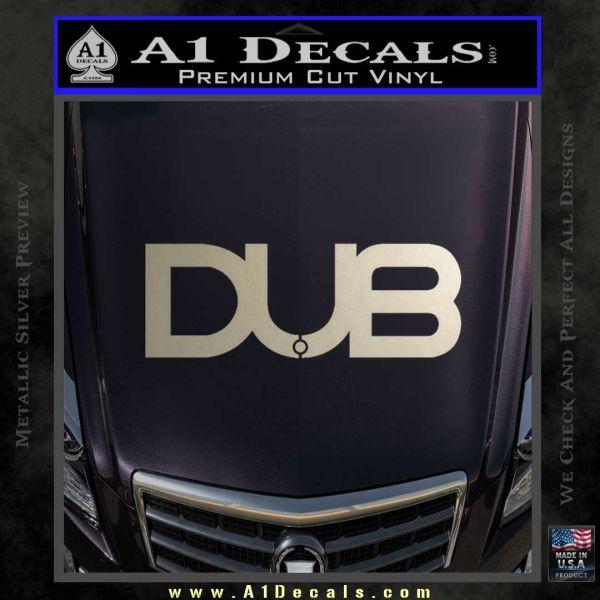 Dub Decal Sticker Logo Metallic Silver Emblem