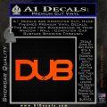Dub Decal Sticker Logo Orange Emblem 120x120