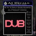 Dub Decal Sticker Logo Pink Emblem 120x120