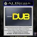 Dub Decal Sticker Logo Yellow Laptop 120x120
