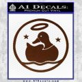 Duck Halo Decal Sticker BROWN Vinyl 120x120