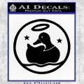 Duck Halo Decal Sticker Black Vinyl 120x120