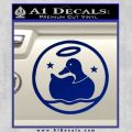 Duck Halo Decal Sticker Blue Vinyl 120x120