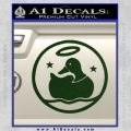 Duck Halo Decal Sticker Dark Green Vinyl 120x120