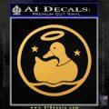 Duck Halo Decal Sticker Gold Vinyl 120x120