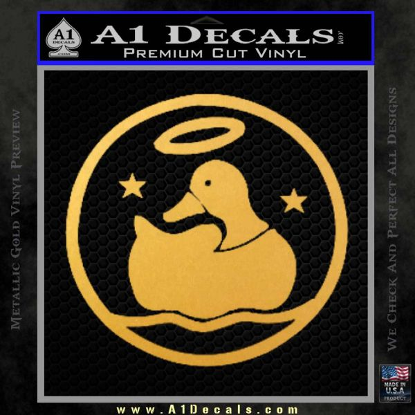 Duck Halo Decal Sticker Gold Vinyl
