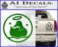 Duck Halo Decal Sticker Green Vinyl Logo 120x97