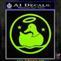 Duck Halo Decal Sticker Lime Green Vinyl 120x120