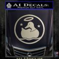 Duck Halo Decal Sticker Metallic Silver Emblem 120x120
