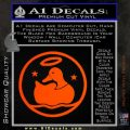 Duck Halo Decal Sticker Orange Emblem 120x120