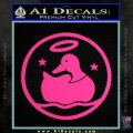 Duck Halo Decal Sticker Pink Hot Vinyl 120x120