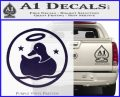 Duck Halo Decal Sticker PurpleEmblem Logo 120x97
