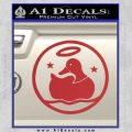 Duck Halo Decal Sticker Red 120x120