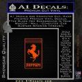 FERRARI Emblem D2 Decal Sticker Orange Emblem 120x120