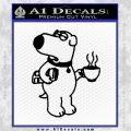 Family Guy Brian Decal Sticker Coffee Black Vinyl 120x120