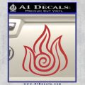 Fire Nation Symbol Avatar the Last Airbender Decal Sticker Red 120x120