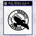 Firefly Serenity Express Futurama D1 Decal Sticker Black Vinyl 120x120