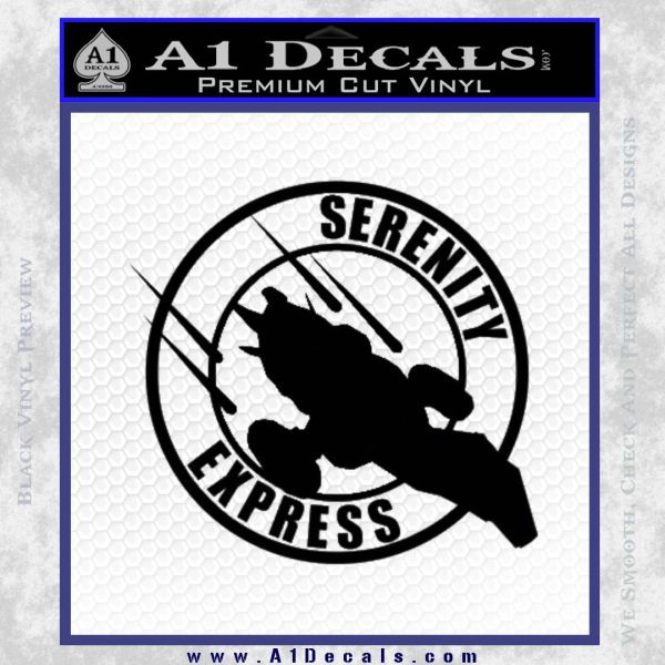 Firefly Serenity Express Futurama D1 Decal Sticker Black Vinyl