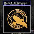 Firefly Serenity Express Futurama D1 Decal Sticker Gold Vinyl 120x120