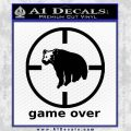 Game Over Bear Hunting Decal Sticker Black Vinyl 120x120