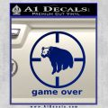 Game Over Bear Hunting Decal Sticker Blue Vinyl 120x120