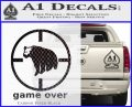 Game Over Bear Hunting Decal Sticker Carbon FIber Black Vinyl 120x97