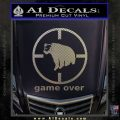 Game Over Bear Hunting Decal Sticker Carbon FIber Chrome Vinyl 120x120