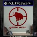 Game Over Bear Hunting Decal Sticker DRD Vinyl 120x120