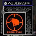Game Over Bear Hunting Decal Sticker Orange Emblem 120x120