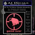 Game Over Bear Hunting Decal Sticker Pink Emblem 120x120