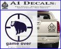 Game Over Bear Hunting Decal Sticker PurpleEmblem Logo 120x97