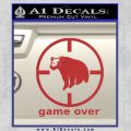 Game Over Bear Hunting Decal Sticker Red 120x120