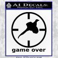 Game Over Bird Hunting Decal Sticker Black Vinyl 120x120