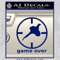 Game Over Bird Hunting Decal Sticker Blue Vinyl 120x120