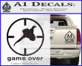 Game Over Bird Hunting Decal Sticker Carbon FIber Black Vinyl 120x97