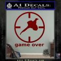 Game Over Bird Hunting Decal Sticker DRD Vinyl 120x120