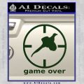 Game Over Bird Hunting Decal Sticker Dark Green Vinyl 120x120