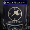 Game Over Bird Hunting Decal Sticker Metallic Silver Emblem 120x120
