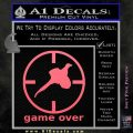 Game Over Bird Hunting Decal Sticker Pink Emblem 120x120