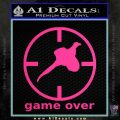 Game Over Bird Hunting Decal Sticker Pink Hot Vinyl 120x120