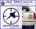 Game Over Bird Hunting Decal Sticker PurpleEmblem Logo 120x97