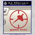 Game Over Bird Hunting Decal Sticker Red 120x120