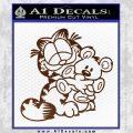 Garfield w Pookie Decal Sticker BROWN Vinyl 120x120
